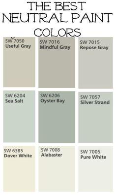 New Ideas Farmhouse Paint Colors Livingroom Mindful Gray Best Neutral Paint Colors, Interior Paint Colors, Paint Colors For Home, Paint Colours, Beachy Paint Colors, Fixer Upper Paint Colors, Nursery Paint Colors, Kitchen Paint Colors, Bedroom Colors