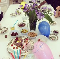 We threw a farewell party for our lovely interns!