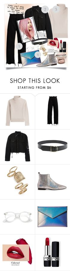 """""""❤❤"""" by fashiontaken1 ❤ liked on Polyvore featuring Vanessa Seward, Marques'Almeida, County Of Milan, Forever 21, Topshop, Joseph, Rebecca Minkoff and Christian Dior"""