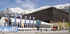 Die #Innsbrucker #Messe vor dem Panorama der #Nordkette. #INTERALPIN2017 ©Congress Messe Innsbruck