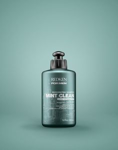 Redken for Men Mint Clean Invigorating Shampoo helps hair grow stronger with daily use.