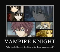 Some of my non-anime-loving friends are finally starting to get into anime because of Vampire Knight!