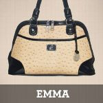 Emma faux leather shoulder bag
