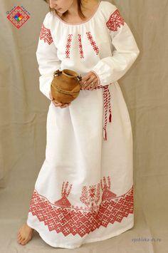 женская славянская свадебная рубаха