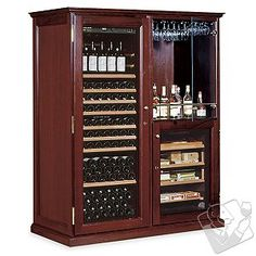 Eurocave Performance 283 Double Elite Wine Cellar Humidor 1 Temp Mahogany