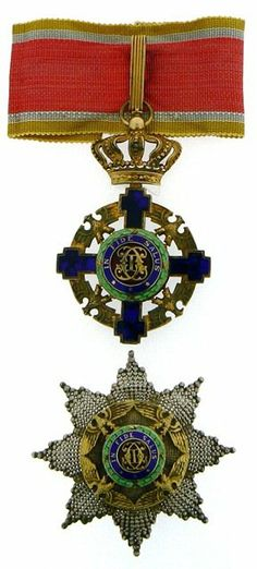 """Country: ROMANIA""""Grand Officer's Set, Model for civil. Neck badge, silver gilt, both sides enameled, obve. Sold for on Dec 2013 Military Medals And Ribbons, War Medals, Grand Cross, Military Orders, Service Awards, United States Army, Coat Of Arms, Romania, Badges"""