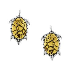 @Overstock.com.com - .925 Sterling Silver Two-tone Sea Turtle Stud Earrings - These darling stud earrings feature whimsical sea turtles, crafted of .925 sterling silver in a two-tone finish. With yellow goldplated shells and silver bodies, these beautiful stud earrings are secured by butterfly clasps.  http://www.overstock.com/Jewelry-Watches/.925-Sterling-Silver-Two-tone-Sea-Turtle-Stud-Earrings/8617701/product.html?CID=214117 $19.99
