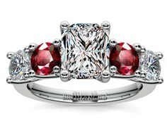 Radiant Trellis Ruby and Diamond Gemstone Engagement Ring in Platinum http://www.brilliance.com/engagement-rings/trellis-ruby-diamond-gemstone-ring-platinum