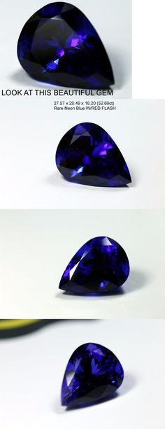 Tanzanite 4195: Natural 52.69 Ct Loose Pear Shape Tanzanite Violet Blue Aaaa+++ Neon Blue Gem BUY IT NOW ONLY: $32140.0