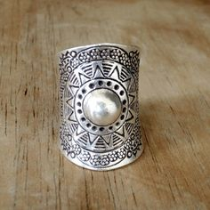 Boho Silver RingSterling Silver Gypsy by SilverShapes on Etsy