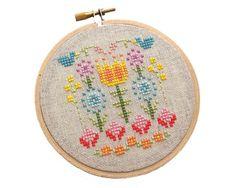 A Secret Garden cross stitch DIY PATTERN by notsomodernmillie