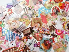 Flake lots, Kawaii stickers, Lots of stickers, Gift wrap supplies, Japanese stationery, Collage decoration, Scrapbooking, 80 stickers, Kawai