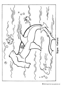 Basking Shark Coloring Page Basking shark Writing prompts and Shark
