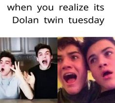 OMG!! Can't wait for the video today!!!! HAPPY DOLAN TWIN TUESDAY!!!!