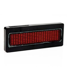 Programmable RED LED Scrolling Sign/Name Badge/Message Tag Display Board #joyliveCY