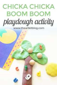 Read the ever popular Chicka Chicka Boom Boom and then followup with this easy sensory activity!