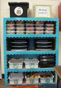 Use Borders on Shelves....loving this idea!