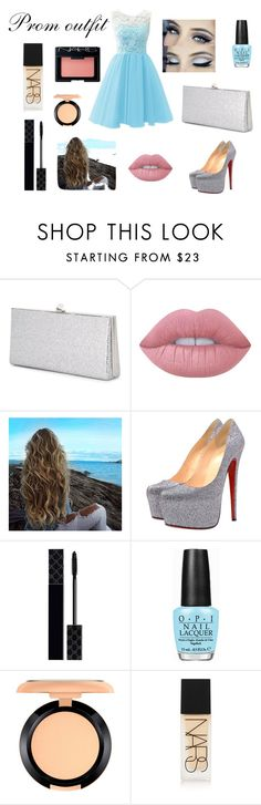"""""""Prom outfit"""" by juwel2457 on Polyvore featuring mode, Jimmy Choo, Lime Crime, Christian Louboutin, Gucci, OPI, MAC Cosmetics en NARS Cosmetics"""