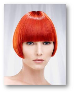 Let do this cut and dream-colour next time and forever! It's so crazy ! Red Orange Hair, Red Hair, Sleek Bob, Corte Bob, 2015 Hairstyles, Bowl Cut, Stylish Hair, Locks, Cut And Color