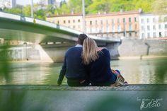 photographe couple Lyon quai de Saône