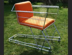 Chairs made from shopping trolleys