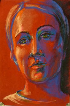 Self portrait in oil pastels. How to draw facial proportions and use oil pastels for shading. Tutorial by artist and teacher Julianna Kunstler. Oil Pastel Art, Oil Pastel Drawings, Oil Pastels, Drawing Projects, Art Projects, Project Ideas, Painting Lessons, Art Lessons, Drawing Lessons