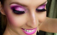 Pink Silver & Purple Eye Makeup Tutorial