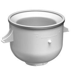 KitchenAid Ice Cream Bowl Option For Stand Mixer: White Kitchenaid Gemüseschneider, Kitchenaid Ice Cream Maker, Kitchenaid Food Processor, Kitchenaid Artisan, Food Processor Recipes, Kitchen Utensils, Kitchen Tools, Kitchen Gadgets, Kitchen Appliances