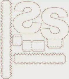 3d Alphabet, Alphabet Templates, Cardboard Letters, 3d Letters, Paper Crafts Origami, Diy Paper, Paper Toys, Paper Gifts, Carton Diy