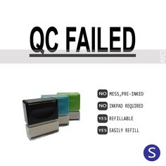 QC FAILED, Pre-Inked Office Stamp, 761706-E