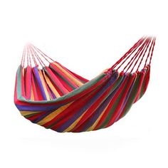 Max 250KGS Double person Portable Outdoor Hammock Garden Sports Hang BED Travel Camping Swing Stripe Bed Canvas Hammock