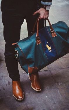 Chukka boots with duffle bag— Mens Fashion Blog - The Unstitchd