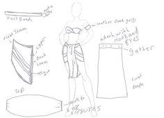 Kida Costume Design And Patern Sketch by Venray.deviantart.com on @deviantART