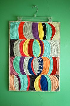 improv curve mini quilt | by m_soto