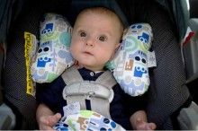 Baby Elephant Ears are a great way to support kids heads in their car seat!