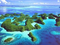 Palau, a tiny sovereign nation halfway between Australia and China. Even though its area is only 1/6th the size of Rhode Island, It has some of the more impressive sights in this world.