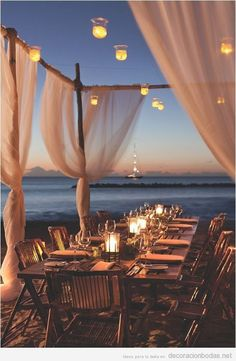 Ideas para decorar un banquete de boda en la playa