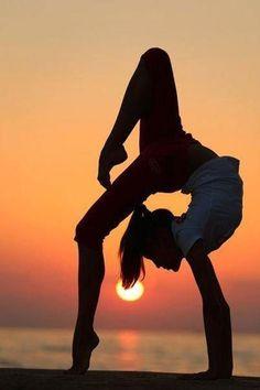 #yoga #sunset #beach