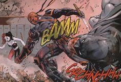 Deathstroke vs Batman in 'Deathstroke Volume 1 - Gods of War'