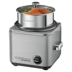 "Stainless steel rice cooker with retractable cord storage. Features warm and cook indicator lights.  cuisinart Rice Cooker & Steamer $79.95 was $88.00   Product: Rice cooker and steamerConstruction Material: Stainless steel and glassColor: SilverFeatures:  Retractable cord storageWarm and cook indicator lightsDimensions: 11.3"" H x 12.2"" W x 11.1"" D"