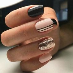 90 Everyday Nail Art Ideas 2019 in our App. Daily ideas of manicure and nail design. Gorgeous nails always! : 90 Everyday Nail Art Ideas 2019 in our App. Daily ideas of manicure and nail design. Gorgeous nails always! Classy Nails, Stylish Nails, Simple Nails, Trendy Nails, Cute Nails, Cute Fall Nails, Elegant Nails, Square Nail Designs, Acrylic Nail Designs