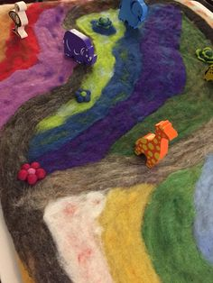 Close-up, felted play mat