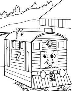 Kids-n-fun | Coloring page Thomas the Train Thomas the Train