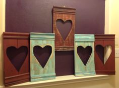 Pallet Wood | Trim Board | Hearts - Lizzie and I had a mini girls weekend.  Did some Valentine Hearts.  Got 2 projects out of these beauties. Used the cut out hearts too.