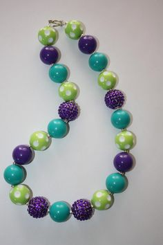 "20"" Monsters Inc. inspired bubble gum necklace on Etsy, $16.00"