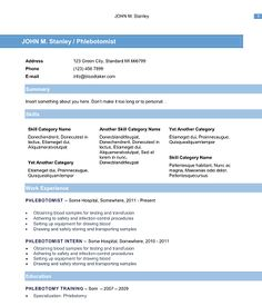 10 free phlebotomy resume templates you must see