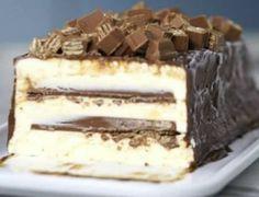Ένα υπέροχος κορμός με πανεύκολο σπιτικό παγωτό της στιγμής, γεμιστό με Kit Kat, καλυμένο με γκανάζ σοκολάτας. Η συνταγή!