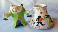 Yankee Candle Ceramic Halloween Shade Jar Topper with Monster Tealight Holder
