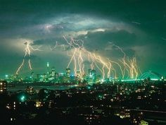 Insane thunderstorm in Sydney, Australia.