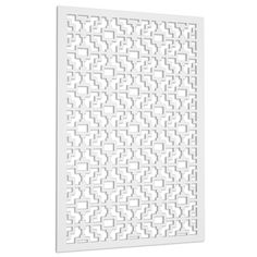 Acurio Latticeworks Fret 32 in. x 4 ft. White Vinyl Decorative Screen Panel-3248PVC-W-FRT - The Home Depot French Door Curtain Panels, Panel Curtains, Sliding Glass Door Screen, Sherwin Williams Duration, Decorative Screen Panels, Lattice Wall, Aesthetic Beauty, Decks And Porches, Diy Home Improvement